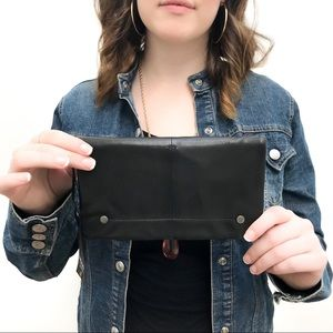 """Latico Black Leather """"Terry"""" Wallet NWT"""